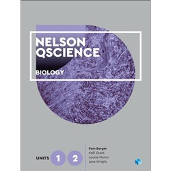 Nelson QScience Biology Units 1 & 2 Student Book + 4 Access