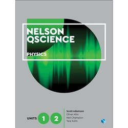 Nelson QScience Physics Unit 1 & 2 Student Book + 4 Access