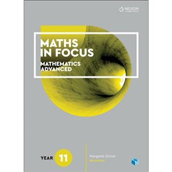 Maths in Focus 11 Advanced Student Bk + 4 Codes