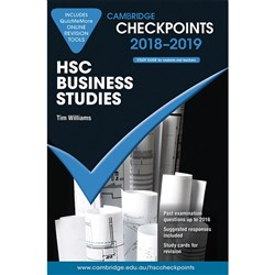 Cambridge Checkpoints HSC 2018 -19 Business Studies & Quiz Me