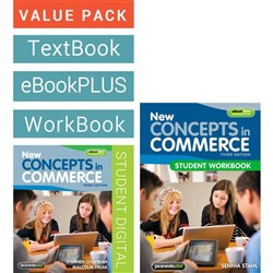 New Concepts in Commerce 3e + eBookPLUS + Student Workbook