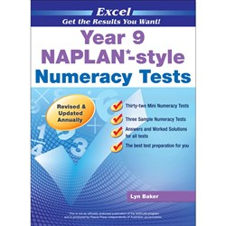 Excel Year 9 NAPLAN*-style Numeracy Tests