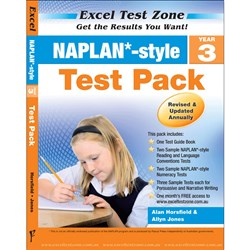 Excel Test Zone NAPLAN* Style Test Pack Year 3