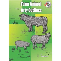 Farm Animal Arty Outlines Book + CD  MP-1414