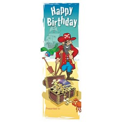 Bookmark - Happy Birthday Pirate