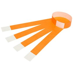 Rexel Wrist Bands with Serial Number Fluoro Orange