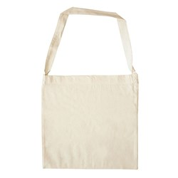 Calico Library Bag with Shoulder Strap 360 x 360mm