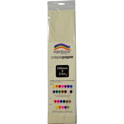Crepe Paper 500mm x 2.5m White