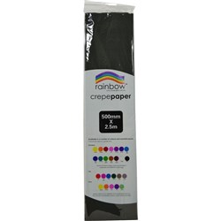 Crepe Paper 500mm x 2.5m Black