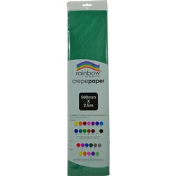 Crepe Paper 500mm x 2.5m Emerald