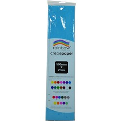 Crepe Paper 500mm x 2.5m Light Blue