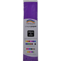 Crepe Paper 500mm x 2.5m Purple