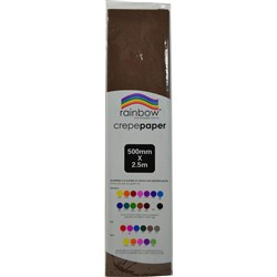 Crepe Paper 500mm x 2.5m Dark Brown