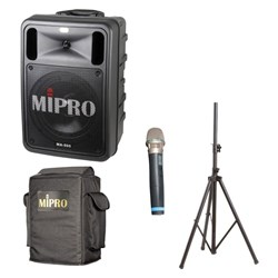 Mipro MA505 PA System with Freq Agile Wireless Mic USB