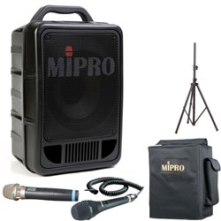 Mipro MA705 PA with Frequency Agile Wireless Mic & CD Player