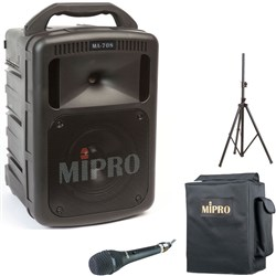 Mipro MA708 Portable PA with Corded Mic + Cover + Stan