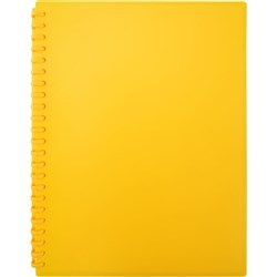 Display Book A4 Refillable Matte Yellow