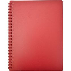 Display Book A4 Refillable Matte Burgundy