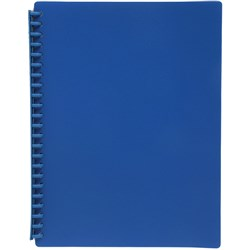 Display Book A4 Refillable Matte Mid Blue
