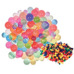 Sensory Water Beads Asst Colours & Sizes 10g
