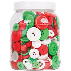 Basics Buttons Xmas Colours 600g