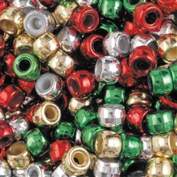 Pony Beads Christmas Pack Asst Colours