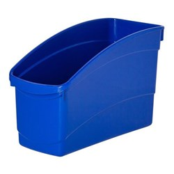 Plastic Book Tub Dark Blue 100W x 267D x 190H mm