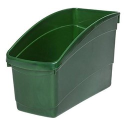Plastic Book Tub Dark Green 100W x 267D x 190H mm