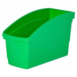 Plastic Book Tub Green 100W x 267D x 190H mm