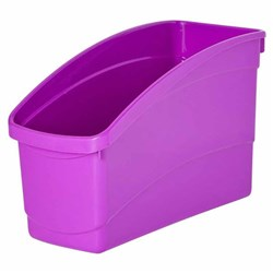 Plastic Book Tub Purple 100W x 267D x 190H mm