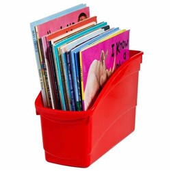 Plastic Book Tub Red 100W x 267D x 190H mm