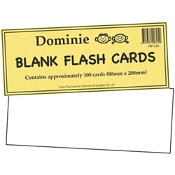 Flash Cards - Blank 80mm x 200mm