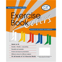 Exercise Book Covers 225 x 175 Asst Colours