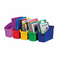 Plastic Book Tub Asst Colours