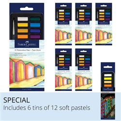 Faber-Castell Watercolour Paints & Soft Pastels Set
