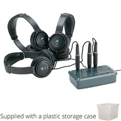 Group Listening Set with Corded Headphones