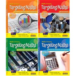 Targeting Maths AC BLM Middle Primary Set 4 Books