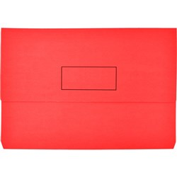 Manilla Document Wallet Foolscap Red