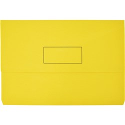 Manilla Document Wallet Foolscap Yellow