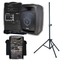 Stageman Portable PA 150 Watt with Bluetooth/SD/USB Player
