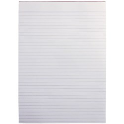 Office Pad Bank Paper A5 Ruled 100 sheet