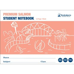 Exercise Book Blank Salmon 70gsm Landscape 32 pg
