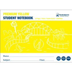 Exercise Book 10mm Double Ruled+Guide Yellow 70gsm 32 pg