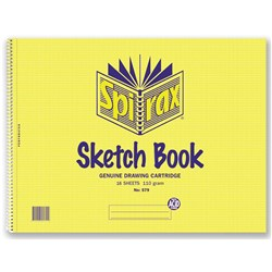 Spirax 579 Sketch Book 272 x 360mm 110gsm 16 sheets