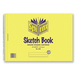 Spirax 534 Sketch Book A4 110gsm 40 pg