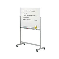 Mobile Pivoting Commercial Whiteboard 1500 x 1200mm