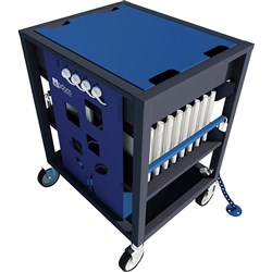 Revolution ECO Laptop Trolley 16 Bay Blue
