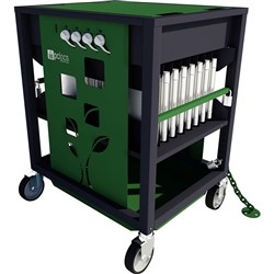 Revolution ECO Laptop Trolley 16 Bay Green