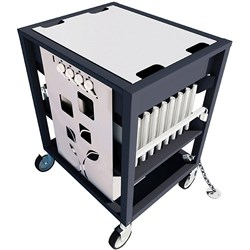 Revolution ECO Laptop Trolley 16 Bay White