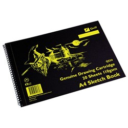 Quill Sketch Book Q534 A4 Perforated 20 sheets